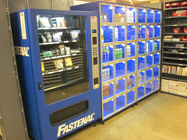 Vending machines provide instant access to needed supplies  and maintain precise inventory control