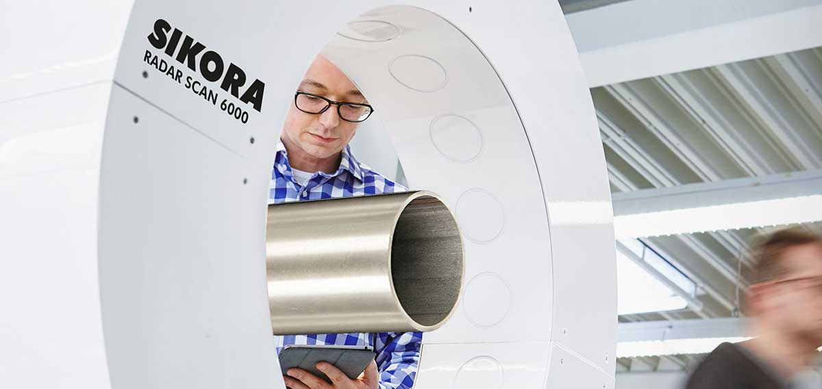 RADAR SCAN 6000 measures the diameter and ovality of tubes and pipes